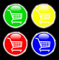 Shopping cart button for web applications Royalty Free Stock Images