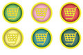Shopping cart buttons Royalty Free Stock Photos