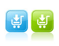 Shopping cart buttons Royalty Free Stock Photo