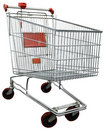 Shopping cart with clipping path Stock Photos