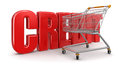 Shopping cart and credit clipping path included image with Stock Image