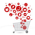 Shopping cart design for design work Royalty Free Stock Photo