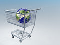 Shopping cart earth Stock Photography