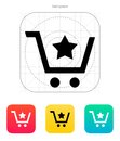 Shopping cart with favorites item icon vector illustration Stock Photography