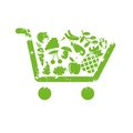 Shopping cart fruit Royalty Free Stock Photo