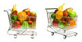 Shopping Cart With Fruit Royalty Free Stock Photo