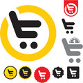 Shopping cart icon. e-shop sign. Royalty Free Stock Images