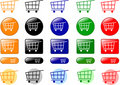 Shopping cart icons Stock Images