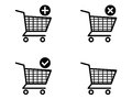 Shopping cart icons on white background Royalty Free Stock Image