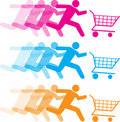 Shopping cart illustrations Stock Photos