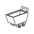 Shopping cart isolated icon
