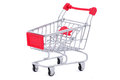 Shopping cart isolated on white Stock Images