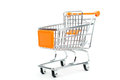 A Shopping Cart Isolated On White Royalty Free Stock Photo