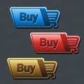 Shopping cart item - buy button Stock Images