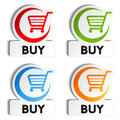 Shopping cart item - buy buttons Royalty Free Stock Photos