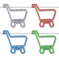 Shopping cart item - shopping trolley, paper clip Royalty Free Stock Photo