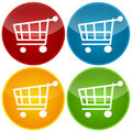 Shopping cart set Royalty Free Stock Image