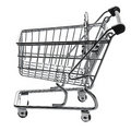 Shopping Cart Trolly Empty Isolated Royalty Free Stock Photo
