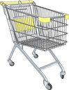 Shopping cart vector in a supermarket on wheels Royalty Free Stock Photography