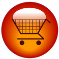 Shopping cart web button Royalty Free Stock Photo