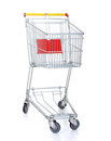 Shopping cart on white Royalty Free Stock Photos