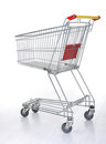Shopping cart on white Stock Photography