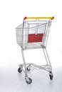Shopping cart on white Royalty Free Stock Photo