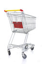 Shopping cart on white Royalty Free Stock Image