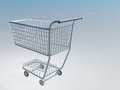 Shopping cart with white blue gradient Stock Photography