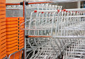 Shopping carts and baskets Stock Photo