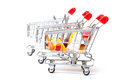 Shopping Carts with Food Stock Images