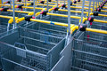 Shopping carts a lot of ready for the buyers Royalty Free Stock Image