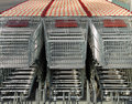 Shopping carts parked, front view Stock Image
