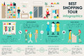 Shopping Center concept Retail infographic