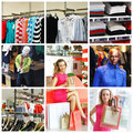 Shopping collage Stock Photos