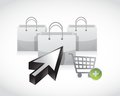 Shopping concept illustration design over a white background Royalty Free Stock Photography