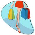 Shopping concept vector Royalty Free Stock Photography