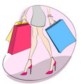 Shopping concept vector Stock Photography