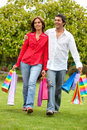 Shopping couple Royalty Free Stock Images