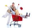 Shopping couple. Royalty Free Stock Photo