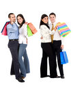 Shopping couples Royalty Free Stock Photos