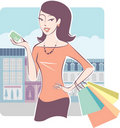 Shopping with credit card Royalty Free Stock Photos