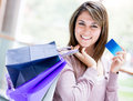 Shopping by credit card Stock Photography