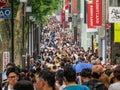 Shopping crowd