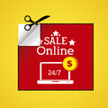 Shopping desig design over yellow background vector illustration Royalty Free Stock Images