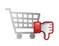 Shopping Dislike Thumb down Royalty Free Stock Photo