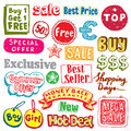 Shopping doodles Royalty Free Stock Images