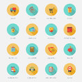 Shopping E-commerce Icons Flat Royalty Free Stock Photo