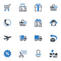 Shopping and E-commerce Icons, Set 1 - Blue Series Royalty Free Stock Photo