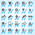 Shopping and E-commerce Icons Set Royalty Free Stock Photo